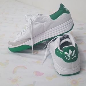 Rod laver white and green men's Adidas sneaker